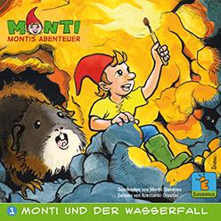 Monti und der Wasserfall